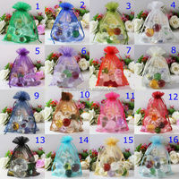 wholesales Jewelry drawstring gift bag pouch/small Christmas gift bag/wedding organza bag