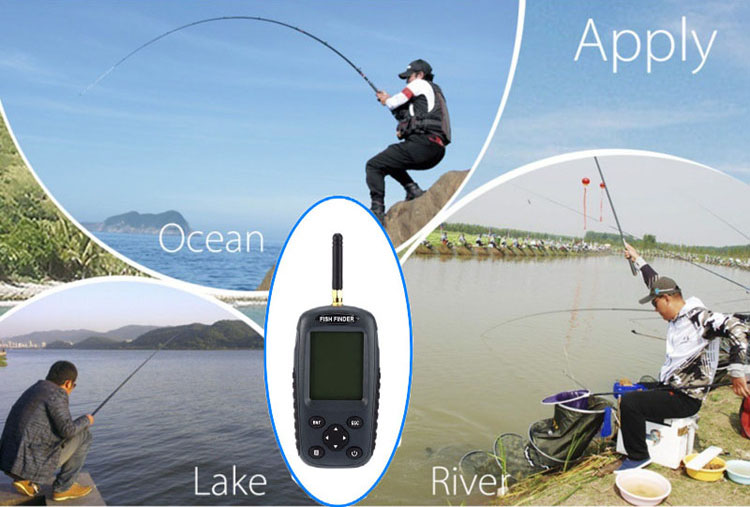 Hot sale alarm 100m portable sonar lcd fish finders fishing lure echo sounder fishing finder