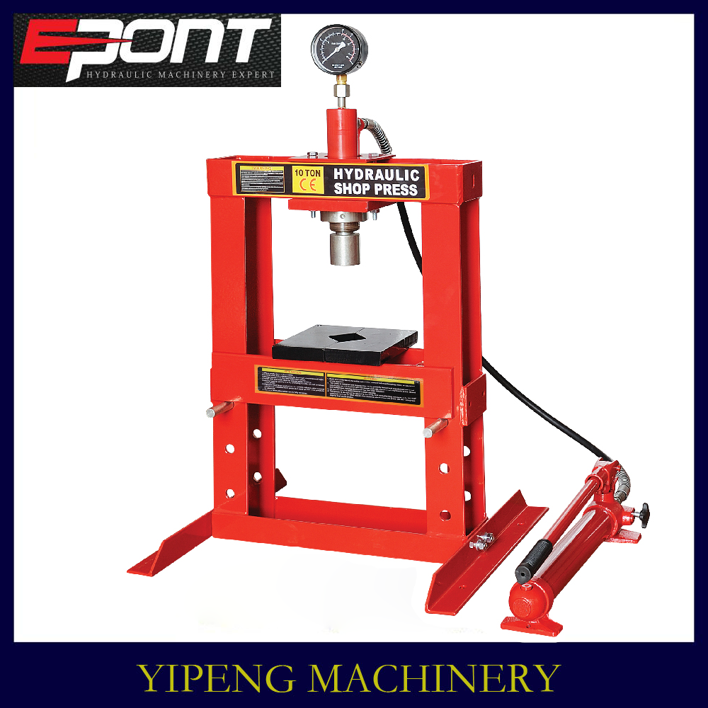 factory supply 10 ton Hydraulic Shop Press with gauge