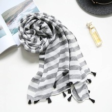 2017 latest fashion pashmina polyster tassel scarf wholesale