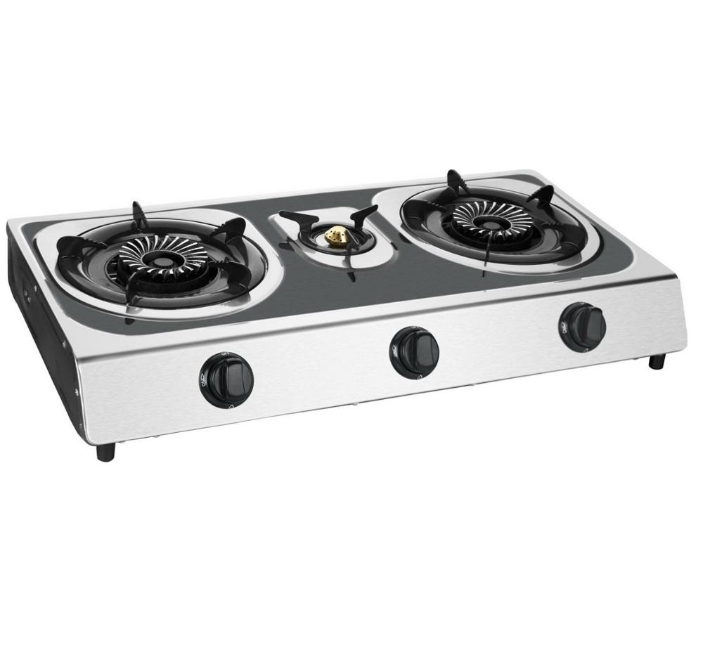 59a720db2 stainless steel portable gas cooker Cast Iron 3 burner HOME gas stove  kitchen appliance