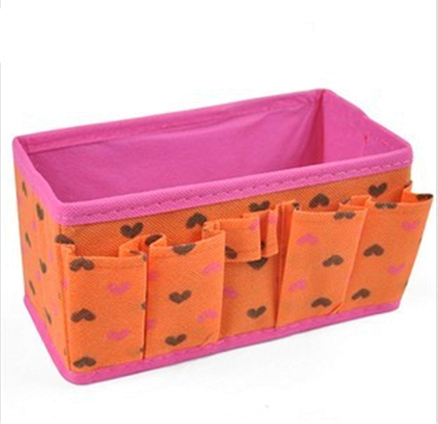 ompson Desktop Cosmetic Storage Box Folding Make up Combination Storage Container Cosmetics Makeup Organizer Orange