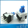 ROSH approval 5.8x5.8 Momentary Blue Cap Push Button Tact Switch