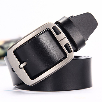 Fashion Flat Fancy Buckle 1 Inch Leather Belts for Men