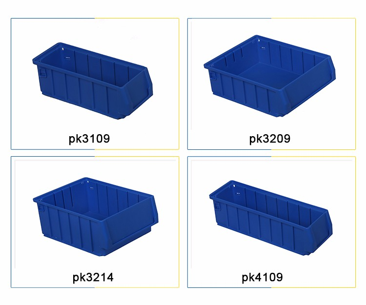 manufacturer in China Shelf plastic bin with dividers for racking