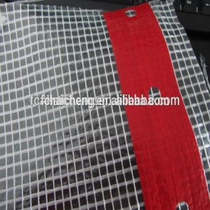 3*3 mesh waterproof clear pe tarpaulin fabric