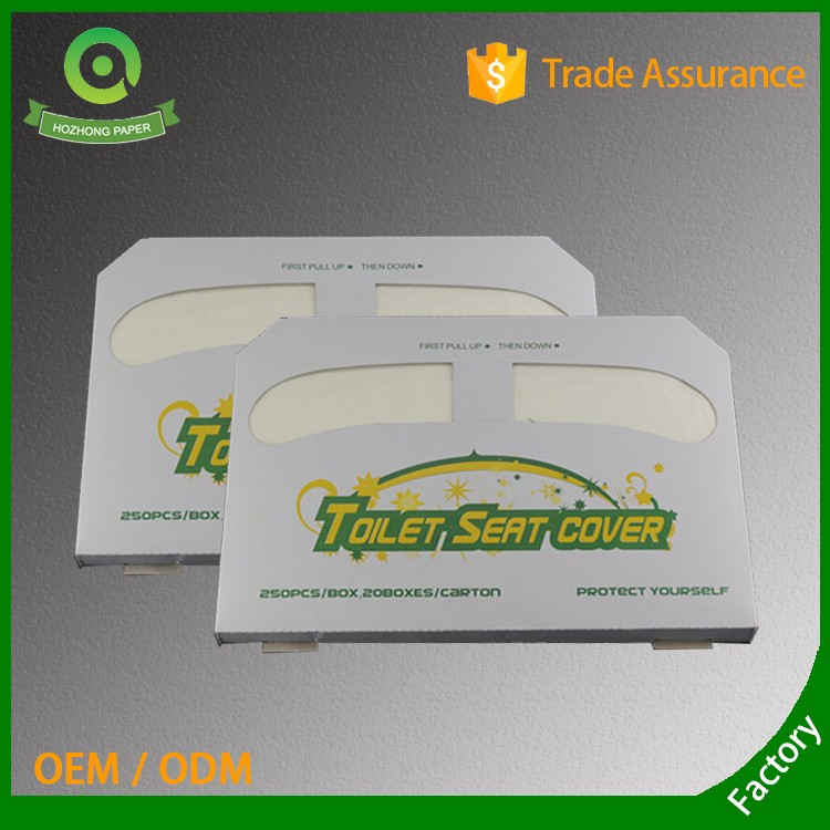 Custom Half-fold disposable paper toilet seat covers
