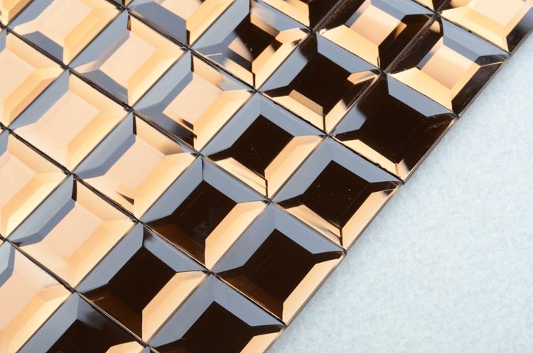 xf017 d corative petit carr miroir adh sif art du verre d coration murale mosa que mosa que id. Black Bedroom Furniture Sets. Home Design Ideas