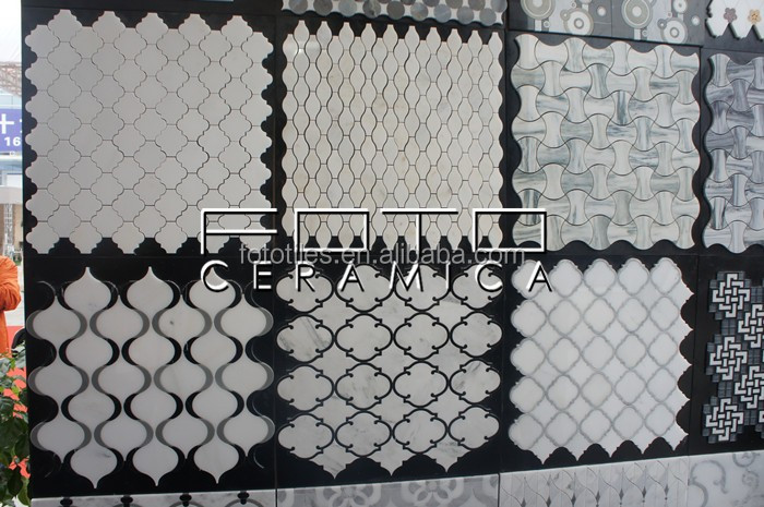 Carrara Stone Hexagon Shape Makrana Marble Mosaic Tiles
