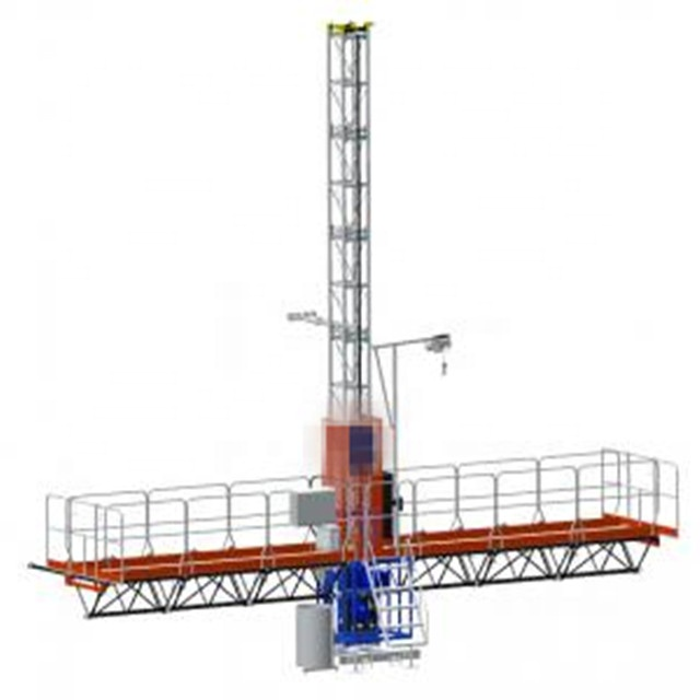 Construction building windows cleaning gondola areial cradle lifting working platform,mast climber
