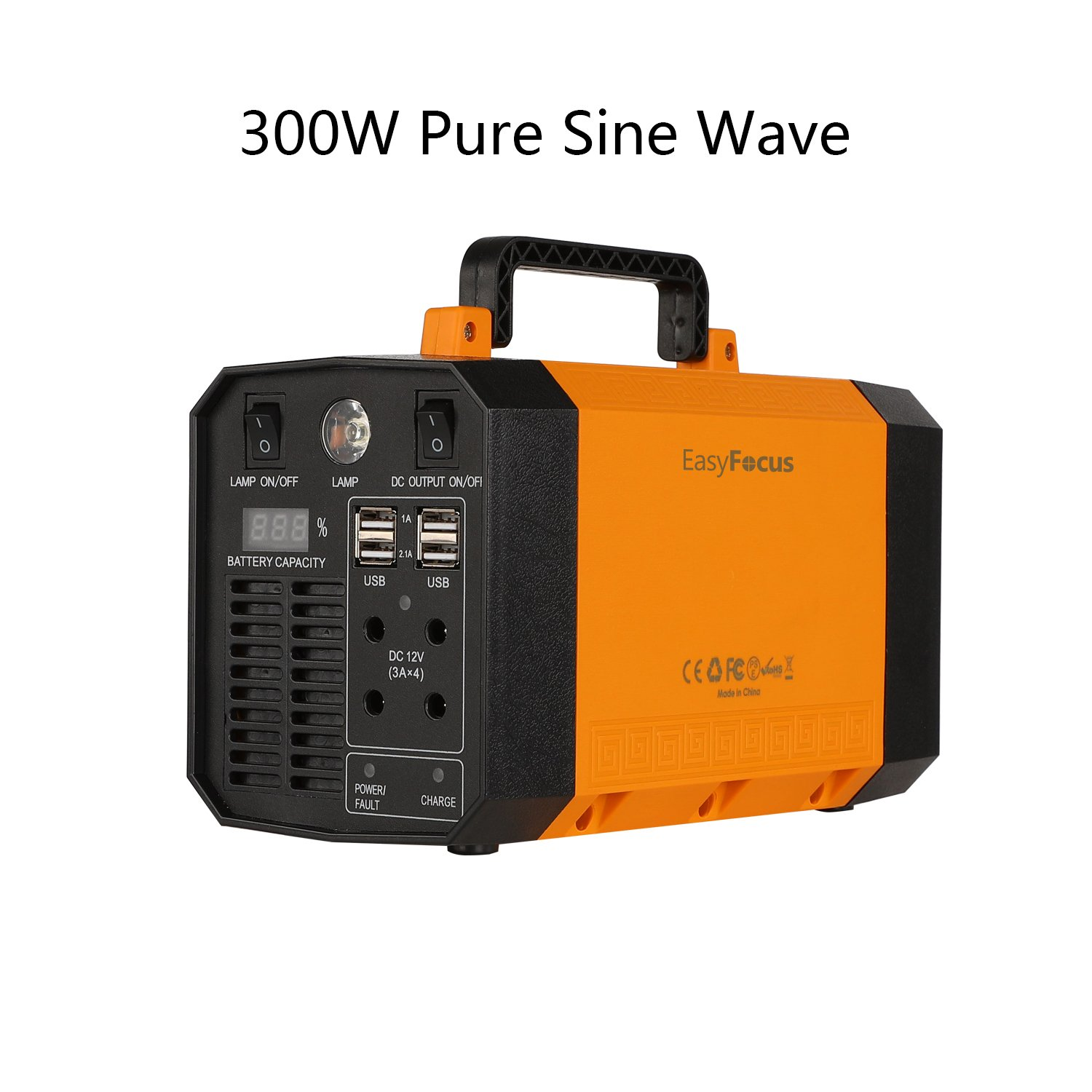 Cheap Who Manufactures Solar Cars Find Pure Sine Wave Generator On Bug Zapper Schematic Diagram Get Quotations Easyfocus Portable Power Station 200wh 300w Inverter Emergency Supply Charged
