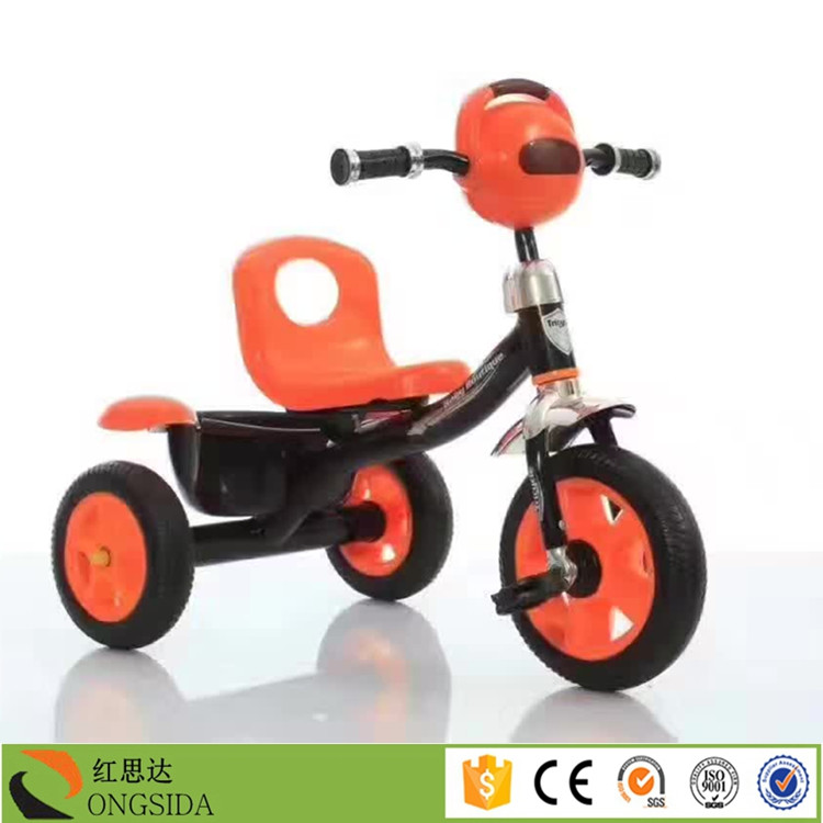 Cheap price 10 inch 3 wheel tricycle child ride ons for 3 year olds with light and music