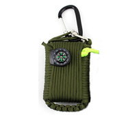 Mini multifunctional sos disaster tools paracord 29 in 1 tactical gear military outdoor camping emergency survival kit