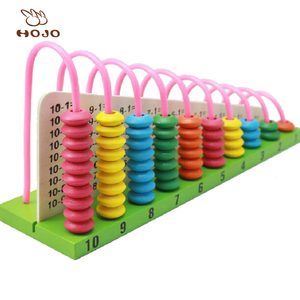 Bead Calculation Frame Kids Wooden Abacus Preschool Educational Counting calculator colourful Toys