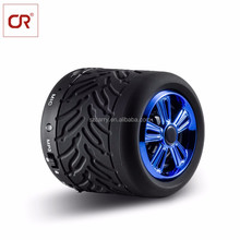 2017 Shenzhen Computers Accessories Bluetooth Portable Stereo Audios With Mini Tire Shape.