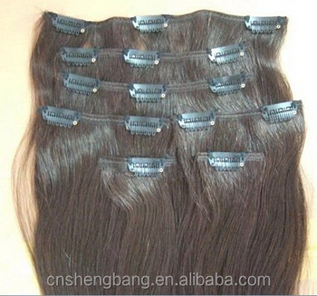 "clips in hair extension good quality remy hair 7pcs/15clips /set 20"". clips in hair 100 clip in hair extensions"
