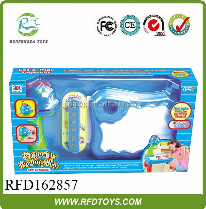 Children project toy for painting play,electronic baby toys play set,project painting play