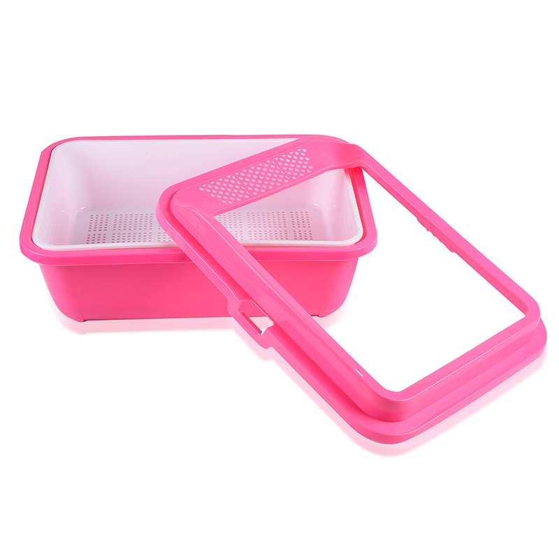 HOT sale cat and dog luxury portable indoor plastic toilet,cat litter tray