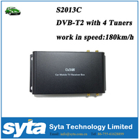 SYTA HOT SALES 1080HD Car DVB T2 4 chips 4 antennas FULL SEG S2013C