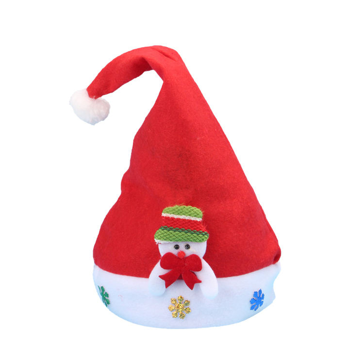 Cheap Fleece Soft Children Holiday Decoration Christmas Hat Party