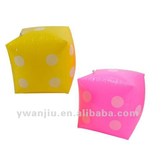 Supply fashion kids dice inflatable toy stock small order