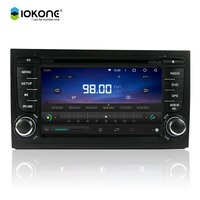 IOKONE 7 inch Touch Screen Android 5.1 AUTO IN DASH DVD 4G WIFI Bluetooth Radio for AUDI A4 2006-2008