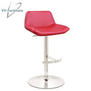 newest chrome footrest pu seat high bar chair furniture