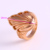 12225 Wholesale simple design ladies jewelry leaf shaped gold plated finger ring