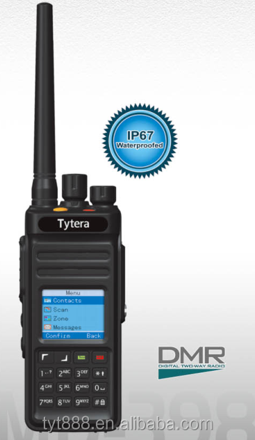 IP 67 GPS waterproof DMR radio MD-390 with GPS! TYT Compatible with MOTOTRBO Tytera MD-390 digital radio transmitter