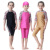 Stock 3 colors fashion pattern Children Islamic Baby kids Swimwear Swimsuit