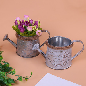 european classic metal flower pot iron galvanized garden pots planter bucket wholesale