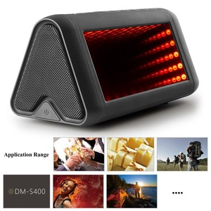 Wholesale Super Bass 5 Dynamic 3D LED Lights Effects Portable Wireless Speaker with Microphone