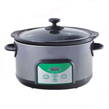5 QT Ronde Rvs Cook & Carry Slowcooker met Digitale Timer