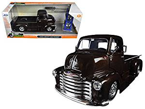 "1952 Chevrolet COE Pickup Truck Brown ""Just Trucks"" with Extra Wheels 1/24 Model Car by Jada"
