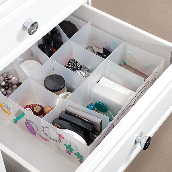 Jewelry Make Up Fashion Lady's Drawer Divider, Platic Bra Sock Sundry Chest Drawer Organizer