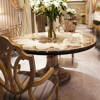 Exquisite Luxury European Imperial Handmade Round Dining Table with  Beautiful Floral Table Top BF12-04254c, View luxury dining table, BISINI  Product ...