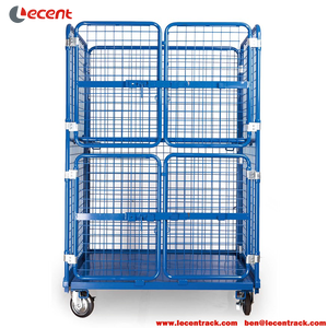 Steel Roll Cage With Mesh Wall For Postal Storage And Transportation