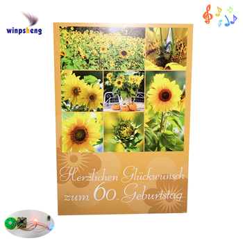 Custom Personalized Happy Birthday Voice Recording Greeting Card Music