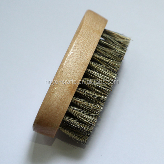 high quality oval shape wooden beard brush