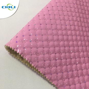 New Fashion Artificial Quilted Faux Synthetic Leather Fabric For Bag