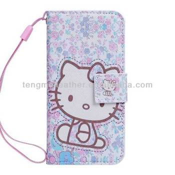 buy popular 73654 4ff5f Purple Hello Kitty Pu Leather Card Holder Wristlet Wallet Case For Iphone  5s 5c,Cute Mobile Phone Case For Iphone 5 5s - Buy Hello Kitty Case For ...
