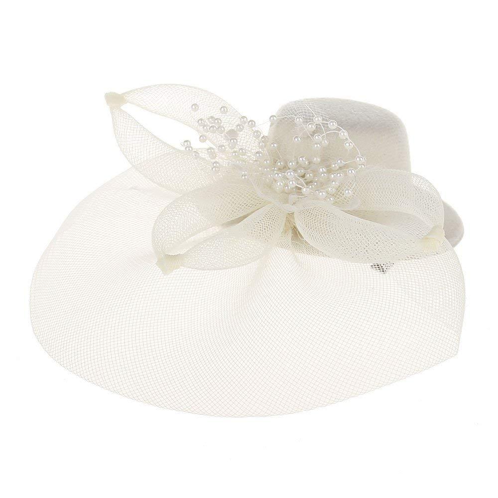 db3e880bc2f Get Quotations · LIULIULIUFashion Women Fascinator Net Bow Tie Mesh Hat  Cocktail Party Headdress Wedding