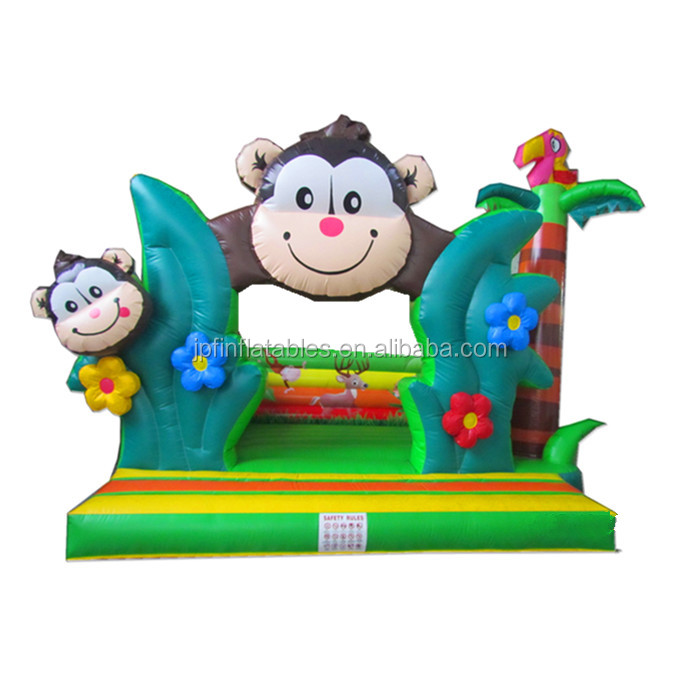 2019 HOT sale  jungle theme  inflatable monkey bouncy jumping castle for sale