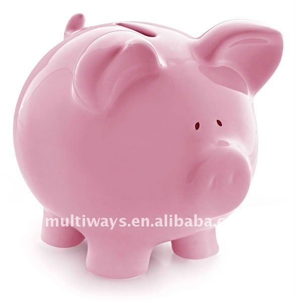 10 years OEM experience custom cute pink pig shaped plastic money box, wholesale piggy banks