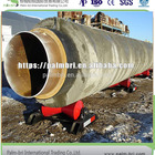concrete weighed coating surface treatment LSAW welded pipes in natual gas and oil offshoe pipeline application