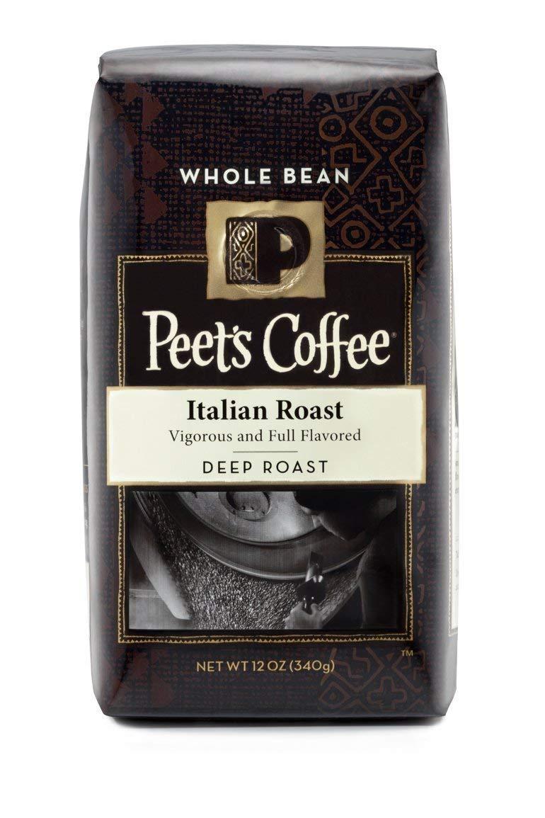 Peet's Coffee, Whole Bean, Deep Roast, Italian Roast, 12oz Bag (Pack of 2)