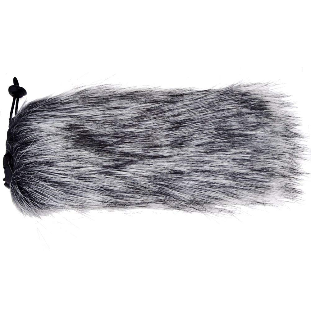 Cleaning cloth First2savvv TM-VMP-01 Outdoor Portable Digital Recorders Furry Microphone Mic Windscreen Wind Muff for Rode VIDEOMIC PRO VMP