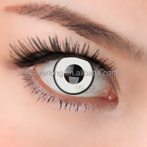 WHOLESALE cosplay fancy color lens soft cosmetic contact lens CL070 WHITE MANSON