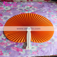 A9911 New Arrival Plastic Handle Paper Round Folding Hand Fan