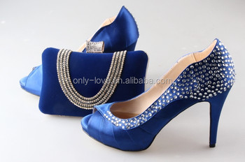 Bas028 custom made royal blue rhinestones matching shoes and bag bas028 custom made royal blue rhinestones matching shoes and bag set women high heels wedding shoes junglespirit Image collections